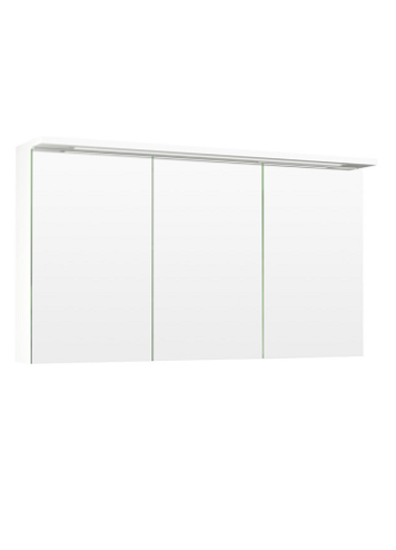 3Temal Highlight 3-ovinen Peilikaappi 110-120 valkoinen