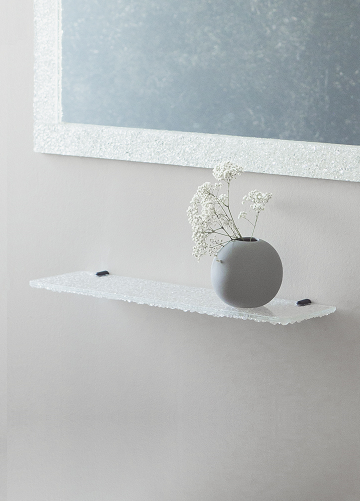 Essis Collection By Lasilinkki Peili Kierrätyslasihylly-(mustat kiinnikkeet)