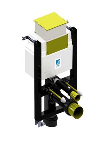 Fluidmaster Schwab Duplo Mini Matala Seinä-wc-n Asennuselementti