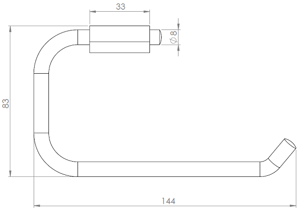 Hietakari-Sandriff Fil Wc-paperiteline mittakuva