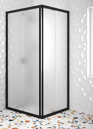 Hietakari - Sandriff Glisse411 Suihkunurkka kiinteillä seinillä ja liukuvilla ovilla (maitolasi)