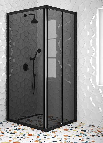 Hietakari - Sandriff Glisse411 Suihkunurkka kiinteillä seinillä ja liukuvilla ovilla (savulasi)