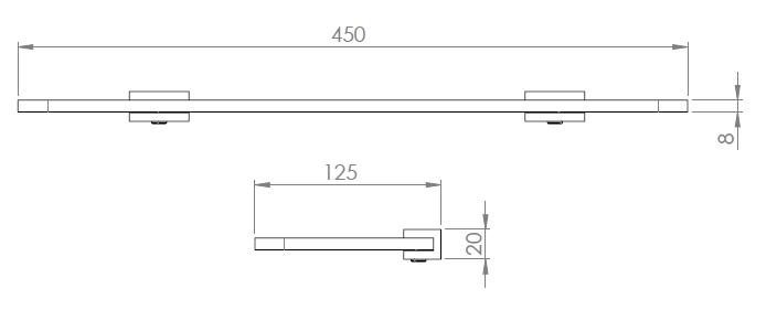 Hietakari-Sandriff Tresor Lasihylly mittakuva