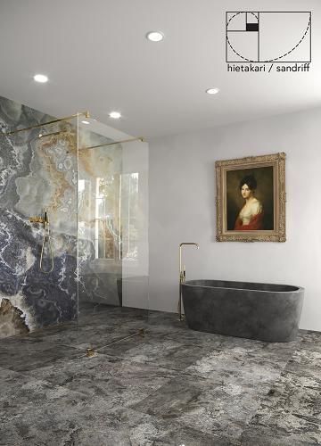 Hietakari - Sandriff Vetro 556 Kiinteä Walk-in suihkuseinä Inspiration