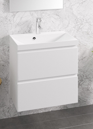 Otsoson Aalto Kylpyhuonekaluste, valkoinen vetimetön 600
