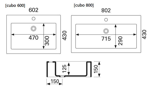 Otsoson Cubo 600-800 Valumarmoriallas Mittakuva