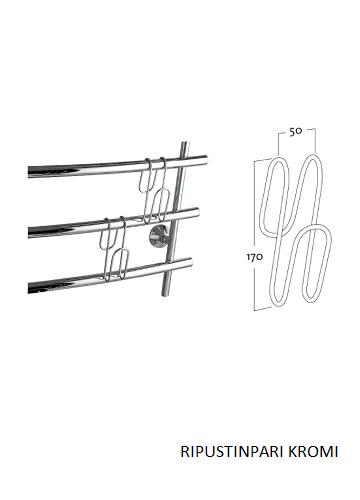Rej Design Ripustinpari Kromi - esimerkki