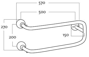 Rej Design Smart BTU 502 Pyyhekuivain Mittakuva
