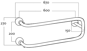 Rej Design Smart BTU 602 Pyyhekuivain Mittakuva