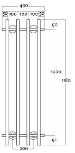 Rej Design Vivo BT 40124 Pyyhekuivain mittakuva