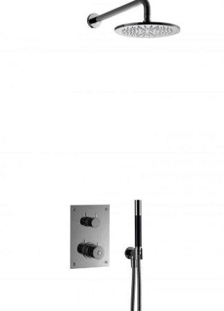 Tapwell BOX7268BCr Upotettava kattosuihku Musta kromi
