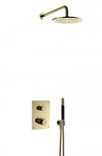 Tapwell BOX7268HG Upotettava kattosuihku Honey Gold