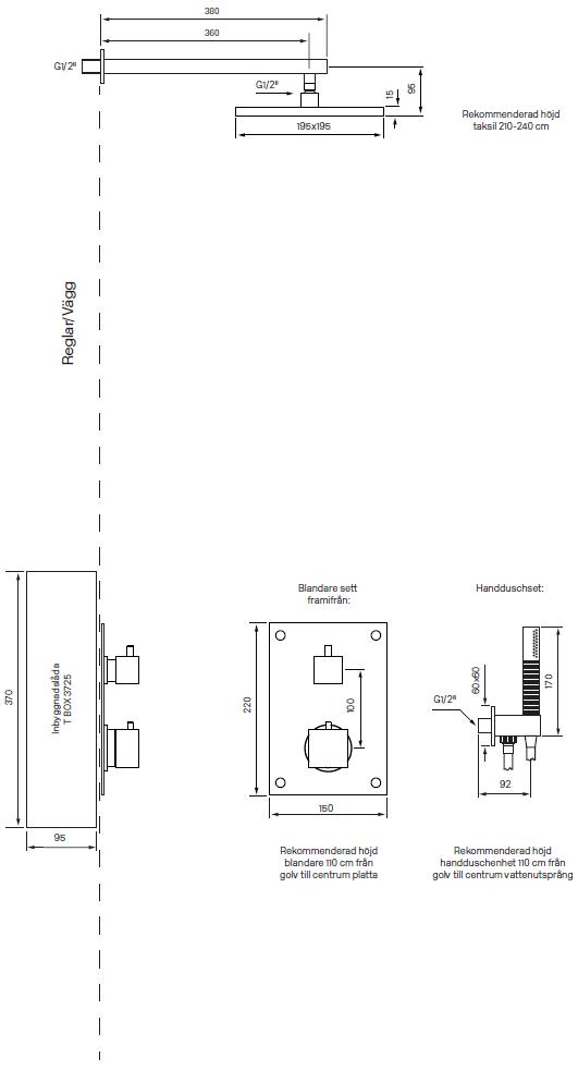 Tapwell BOX8268 Square Mittakuva