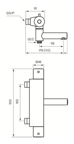 Tapwell EVM 022-150 mittakuva