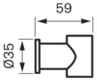 Tapwell XSUP030 Käsisuihkun pidike Mittakuva