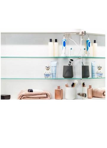 Temal Choice 1-ovinen peilikaappi, lasihyllyt, peiliovi inspiration 4