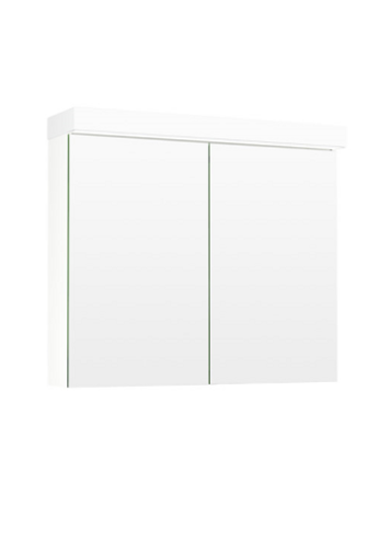 Temal Ecolight 2-ovinen Peilikaappi 50-100 cm valkoinen