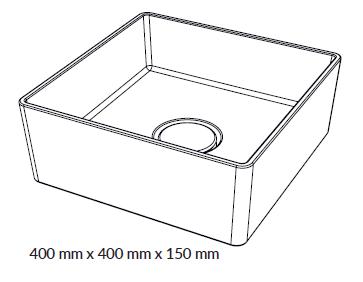 Woodio Malja-allas Cube 40 mittakuva
