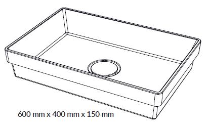 Woodio Malja-allas Cube 60 Tasoon Upotettava mittakuva