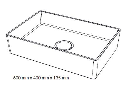 Woodio Malja-allas Cube 60 mittakuva