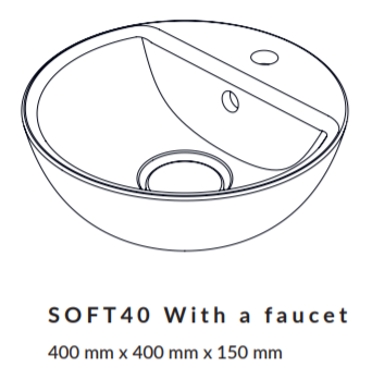 Woodio Soft 40 hanapaikalla mittakuva