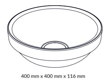Woodio Soft40 Malja-Allas Tasoon Upotettava mittakuva