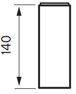 Xpro 800 korokepala mittakuva